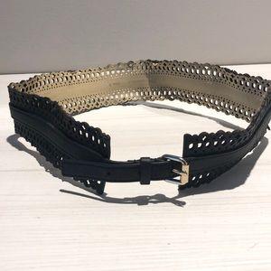 BCBG Belt Waistline Black leather Small